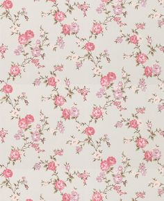 Vintage Wallpaper Patterns | 50 447 rose cottage wallpaper this small scale climbing rose wallpaper ...