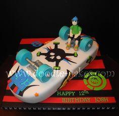 Phenomenal 23 Best Skate Board Cake Images Skateboard Cake Cake Funny Birthday Cards Online Bapapcheapnameinfo