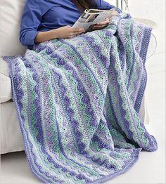 Summer Mist Crochet Throw Free Pattern