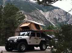 ARB Simpson III tent on top of Gobi Rack. My dream camping setup for my JK