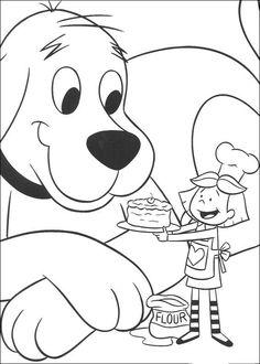 Desenhos para colorir para crianças. Desenhos para imprimir e colorir Clifford 9
