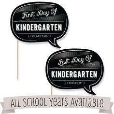 First & Last Day of School Photo Props Kit | BigDotOfHappiness.com