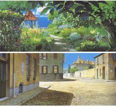 Cenários de Porco Rosso, do Studio Ghibli | THECAB - The Concept Art Blog