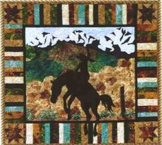 Cowboy Quilt Patterns | ... Ridin High Quilt Pattern by June Jaeger for Prairie Girl Quilt Shop