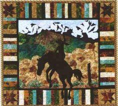 Cowboy Quilt Patterns | ... Ridin High Quilt Pattern by June Jaeger for Prairie Girl Quilt Shop