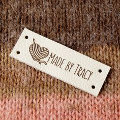 Labels for handmade items, knitting labels, custom garment labels, product labels, set of 25 pc Laser Labels, Custom Printed Labels, Printing Labels, Leather Label, Cute Crochet, Knitting Patterns Free, Knitting Projects, Deco, Lana