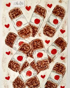 #valentinesday #art #chocolate #chocolate bar #love #watercolor #painting