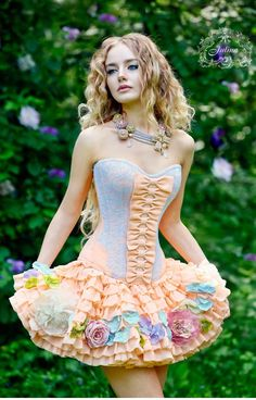 Corset and skirt Forest fairy by JulinaCorsets on Etsy