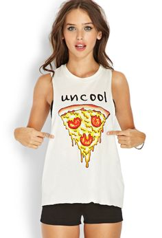 Uncool Muscle Tee | FOREVER21 Pizza pizza #GraphicTee #MustHave