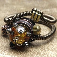 Steampunk madness ring by catherinetterings