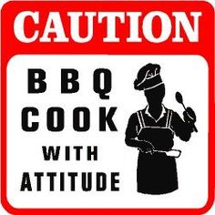 CAUTION: BBQ COOK barbeque smoke fun sign « Blast Gifts