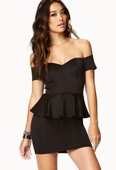 black peplum dress. need to find or a royal blue for the baile