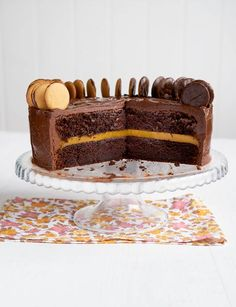 Chocolate Jaffa cake http://www.sainsburysmagazine.co.uk/recipes/baking/special-occasion-cakes/item/chocolate-jaffa-cake