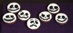 Halloween treats: jack skellington biscuits