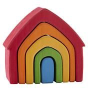 Baby Toys: Grimms Wooden Nesting Rainbow House in All Toys Diy Craft Projects, Wood Projects, Top Toddler Toys, Grimms Rainbow, Rainbow House, Wood Block Crafts, Wooden Rainbow, Stacking Toys, Waldorf Toys