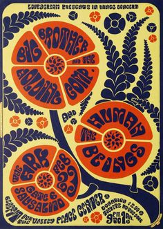 Big Brother & The Holding Company benefit concert poster, February 1967.