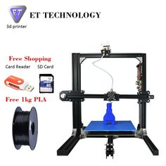220.80$  Watch now - http://ali9cq.worldwells.pw/go.php?t=32778439904 - ET Prusa I3 3D Printer Metal Frame High Precision Impressora 3D DIY Kit LCD Free 2016 Newest Digital Printing Machine