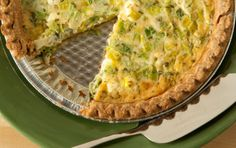 Goat cheese lends a creamy, zippiness to this classic breakfast quiche. Serve with a fruit or lettuce salad on the side.