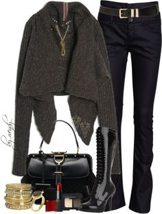 """""""Butterfly Draped sweater, jeans and boots contest"""" by wendyfer ❤ liked on Polyvore"""