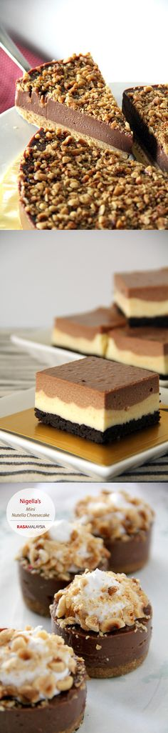 Best Nutella recipes: Nutella cheesecakes, nutella swirls pound cake, Nutella cheecake bars, and so much more. Get all the most popular and decadent Nutella recipes now!