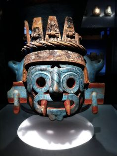 Tlaloc (Tlá-loch) was the Aztec rain deity and one of the most ancient and widespread deities of all Mesoamerica. Tlaloc was thought to live on the top of the mountains, especially the ones always covered by clouds; and from there he sent the much needed rains. The rain god was a pan-Mesoamerican deity, whose origins can be traced back to Teotihuacan and the Olmec. The rain deity was called Chaac by the ancient Maya and Cocijo by the Zapotec of Oaxaca.