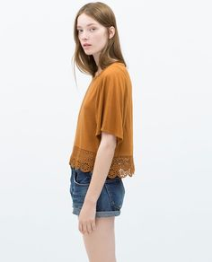 COMBINED GUIPURE T-SHIRT-TRF-NEW THIS WEEK | ZARA United States