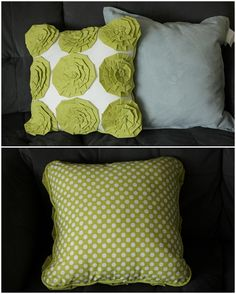 Tutorial on how to make a rosette pillow similar to the target pillow