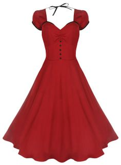 Clothes I'd love to see girls in Lindy Bop 'Bella' Classy Vintage Rockabilly Style Swing Party Jive Dress (M, Red) Pin Up Outfits, Pin Up Dresses, 50s Dresses, Pretty Dresses, Beautiful Dresses, Fashion Dresses, Dress Up, Tent Dress, Short Dresses