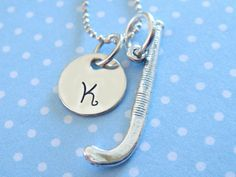 Field Hocky Necklace  Hand Stamped Jewelry  by KristyLynnJewelry, $30.00