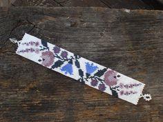 Flower bracelet peyote bracelet kalocsai by BeautyBeadwork on Etsy