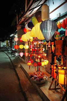 Lanterns for sale in the ancient Vietnamese city of Hoi An