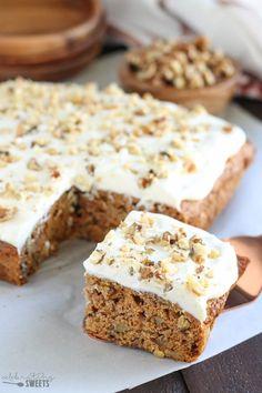 Healthier Carrot Cake (Naturally Sweetened   Whole Grain)