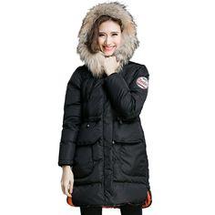 161.50$  Buy here - http://alidvz.shopchina.info/go.php?t=32773313237 - XL XXL XXXL 4XL 5XL Plus Size Parkas 2016 Winter Wadded Thick Outerwear Female Cotton-padded Warm Hooded Black Parka Coat D8170  #buyonline