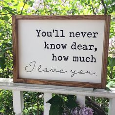 Youll Never Know Dear How Much I Love You Framed Sign Song Lyrics Home Decor Custom Rustic Wood Sign Decor Farmhouse Style Sign Rustic Wood Signs Custom Dear Decor Farmhouse Framed Home Love Lyrics Rustic Sign Song Style Wood Youll Wood Signs For Home, Rustic Wood Signs, Wooden Signs, Rustic Decor, Home Decor Signs, Wood Signs Sayings, Sign Quotes, Home Song, Interior Minimalista