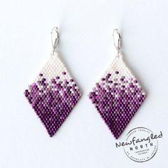 Pixelated Berries & Cream Earrings