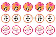#diy- make your own! 15 Cute Panda Bear Laugh Smile Play Printed Precut 1 Inch Images for Bottle Caps Hair Bows Pendants Keychains  $1.75 #PaylenStudio Etsy