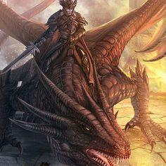 ArtStation - Robert Crescenzio Dragon Knight, Dragon 2, Fantasy Dragon, Fantasy Warrior, Legendary Dragons, Fantasy Beasts, Dragon Artwork, Creatures Of The Night, Fantasy Monster