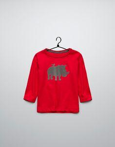 textured animal t-shirt