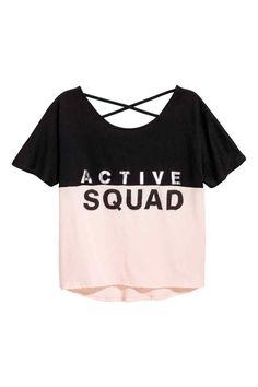 92403b945 Top treningowy. H&m FashionFashion OnlineShort SleevesV NeckT Shirts For  WomenFabricOutfitsSportsTops