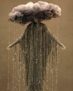 IF... you ever need a H'ween costume.... You would pull this off and look super cool!!  ♥    A rain cloud costume.  You can make it by hand in any size you want.