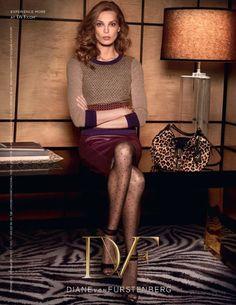 Daria Werbowy by Sebastian Faena for Diane von Furstenberg Campaign FW 2013-2014