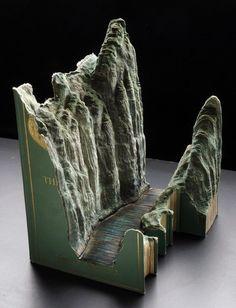 The carved book landscapes of Guy Laramée