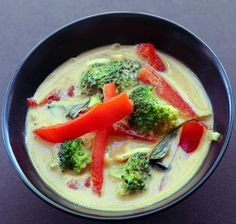 Thai Peanut Butter Coconut Curry: http://chocolatecoveredkatie.com/2013/03/25/thai-coconut-peanut-butter-curry/