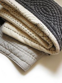 This blanket is my idea of modern meets heirloom done right.- velvet