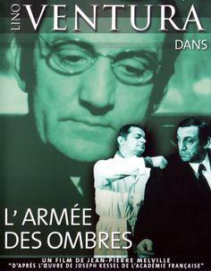"""L'Armée des ombres de JP  Melville (1969), d'après #josephkessel. France, 1942. Soupçonné de """"pensées gaullistes"""", l'ingénieur Gerbier est incarcéré, puis transféré à la Gestapo, d'où il parvient à s'évader. Un long voyage au bout de la nuit commence pour ce soldat de la clandestinité et ses frères d'armes dont chacun ignore tout des activités de l'autre. Traqués par la Gestapo et la police de Vichy, le voyage sera sans issue pour la plupart d'entre eux."""