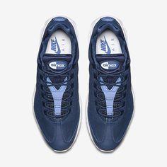 info for 8273c f67f5 Chaussure Nike Air Max 95 Pas Cher Homme Ultra Essential Bleu Binaire Blanc  Blanc