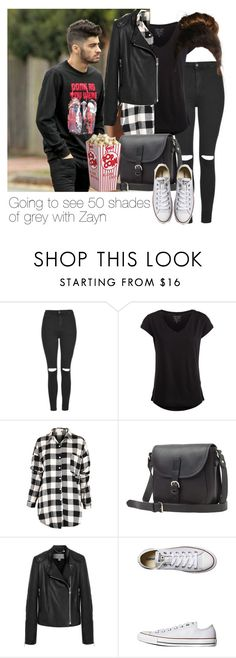 """""""REQUESTED: Going to see 50 shades of grey with Zayn"""" by style-with-one-direction ❤ liked on Polyvore featuring Topshop, Pieces, Toast, Mulberry, Converse, OneDirection, 1d, zaynmalik and zayn malik one direction 1d"""
