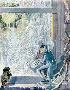 Arthur Rackham illustrations for Jack Frost. I love the pattern he's creating on the wall