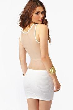 Wrapped Mesh Dress