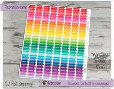 Payday Stickers, Planner Stickers, Erin Condren, Life Planner, Reminder Stickers, Rainbow Stickers, Plum Paper, Any Planner 0013